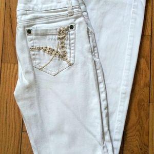 Arizona white lowrise skinny denim jeans 3